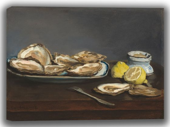 Manet, Edouard: Oysters. Fine Art Canvas. Sizes: A4/A3/A2/A1 (003962)